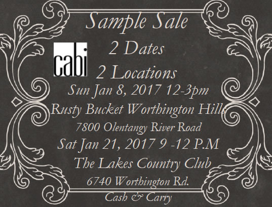 cabi Sample Sale! – DianeHoenig.com